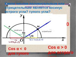 Каким числом положительным или отрицательным является синус острого угла? туп