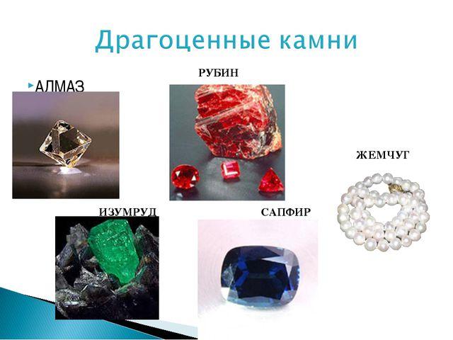 АЛМАЗ ИЗУМРУД РУБИН САПФИР ЖЕМЧУГ
