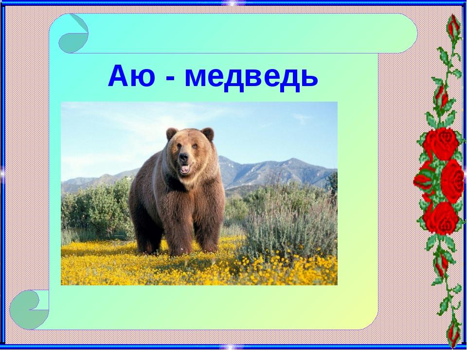 Аю - медведь