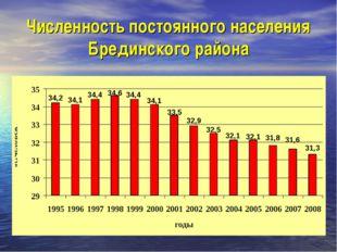Численность постоянного населения Брединского района