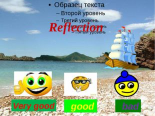Very good good Reflection bad
