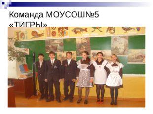 Команда МОУСОШ№5 «ТИГРЫ»