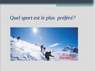 Quel sport est le plus préféré?