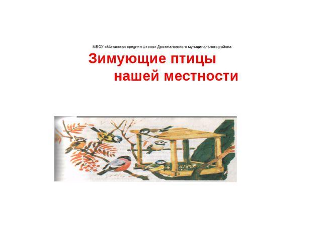 МБОУ «Матакская средняя школа» Дрожжановского муниципального района Зимующие...