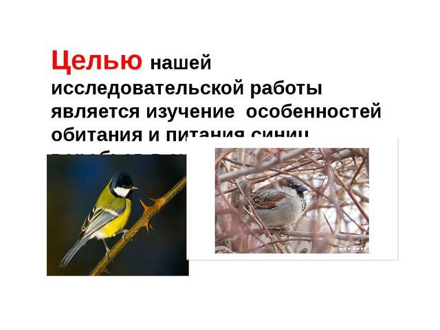 Целью нашей исследовательской работы является изучение особенностей обитания...