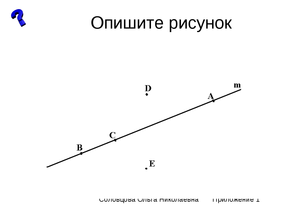 Опишите рисунок Соловцова Ольга Николаевна Приложение 1