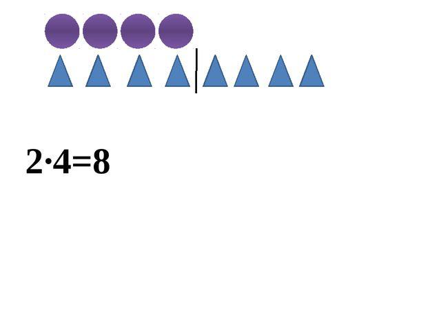 2∙4=8