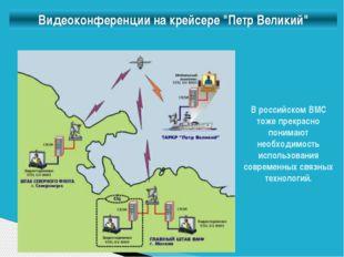 """Видеоконференции на крейсере """"Петр Великий"""" В российском ВМС тоже прекрасно п"""