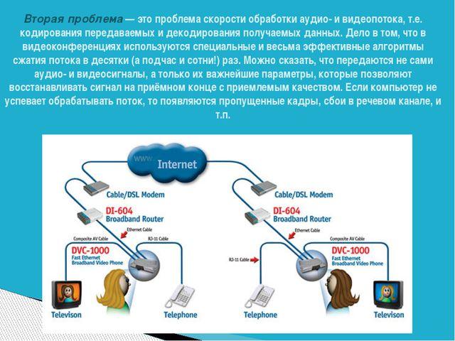 Вторая проблема— это проблема скорости обработки аудио- и видеопотока, т.е....