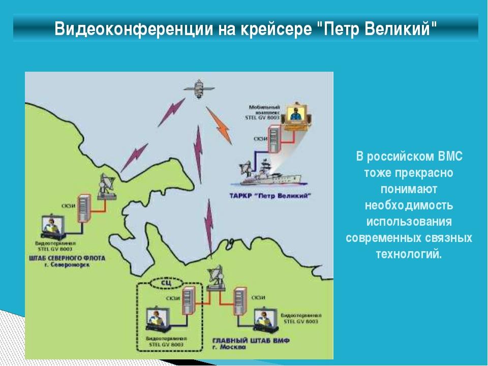 """Видеоконференции на крейсере """"Петр Великий"""" В российском ВМС тоже прекрасно п..."""