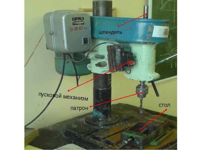 патрон пусковой механизм стол шпиндель