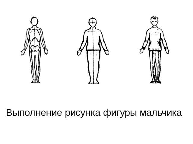 Выполнение рисунка фигуры мальчика