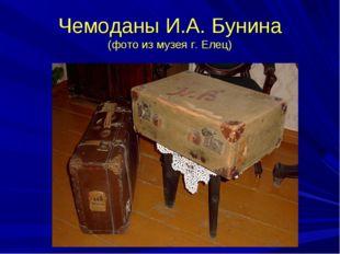 Чемоданы И.А. Бунина (фото из музея г. Елец)