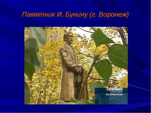 Памятник И. Бунину (г. Воронеж)