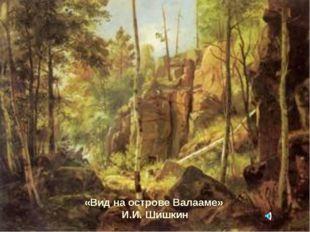 «Вид на острове Валааме» И.И. Шишкин