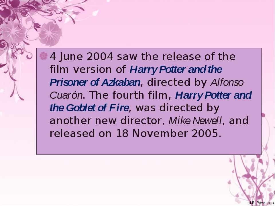 4 June 2004 saw the release of the film version of Harry Potter and the Priso...