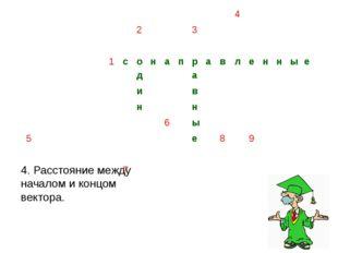 8. Направленный отрезок, для которого указано какой из его концов является на