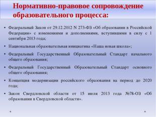 Федеральный Закон от 29.12.2012 N 273-ФЗ «Об образовании в Российской Федерац