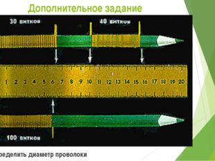 Дополнительное задание   Определить диаметр проволоки
