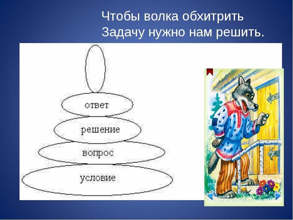 Чтобы волка обхитрить Задачу нужно нам решить.