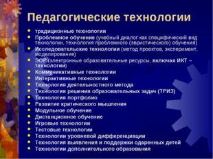 Педагогические технологии традиционные технологии Проблемное обучение (учебны