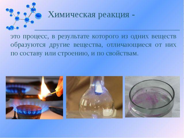 Учитель химии и биологии В.В. Цаплин Нарышкино - 2014 Понятие о химической ре...