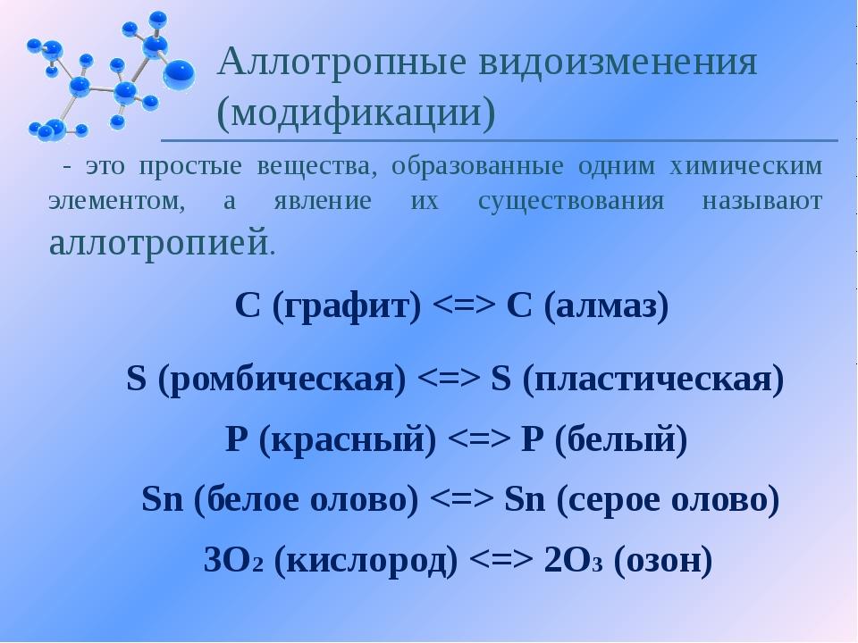 Аллотропные видоизменения СЕРЫ S8 (моноклинная)  S8 (ромбическая)  Sn (пласти...