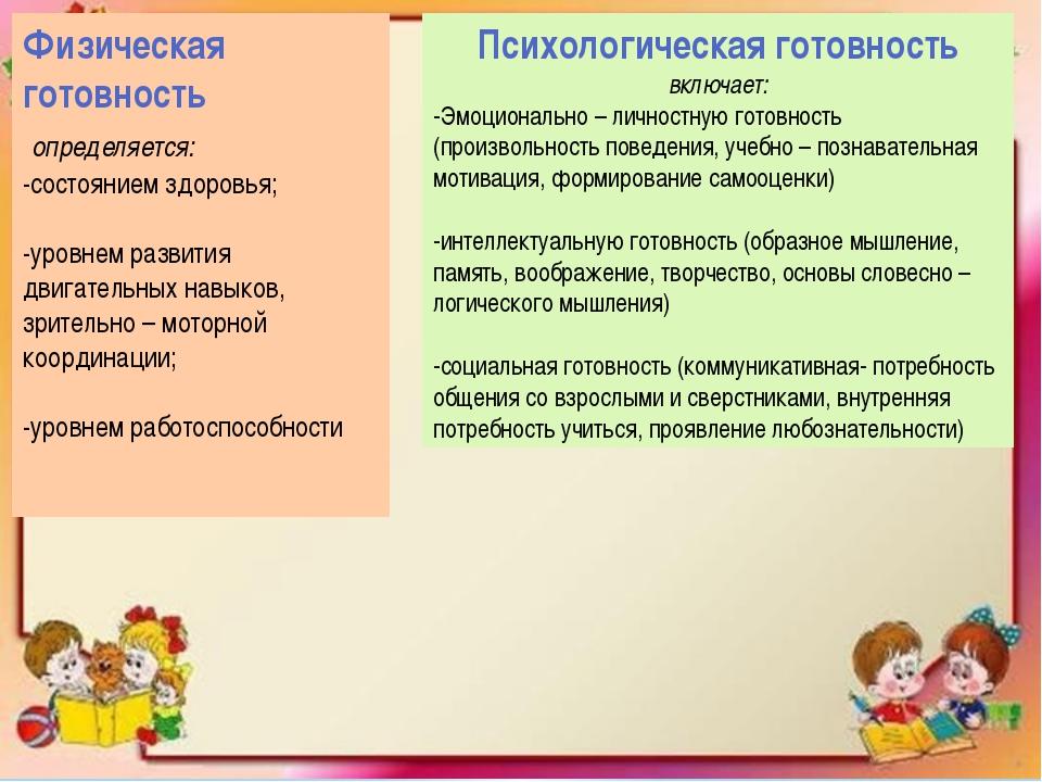Физическая готовность определяется: -состоянием здоровья; -уровнем развития д...