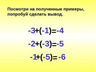 Посмотри на полученные примеры, попробуй сделать вывод.