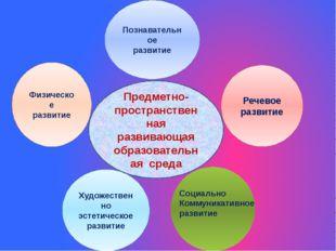 Предметно-пространственная развивающая образовательная среда Познавательное