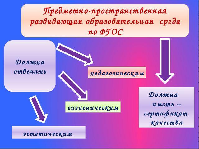 педагогическим эстетическим гигиеническим Предметно-пространственная развиваю...