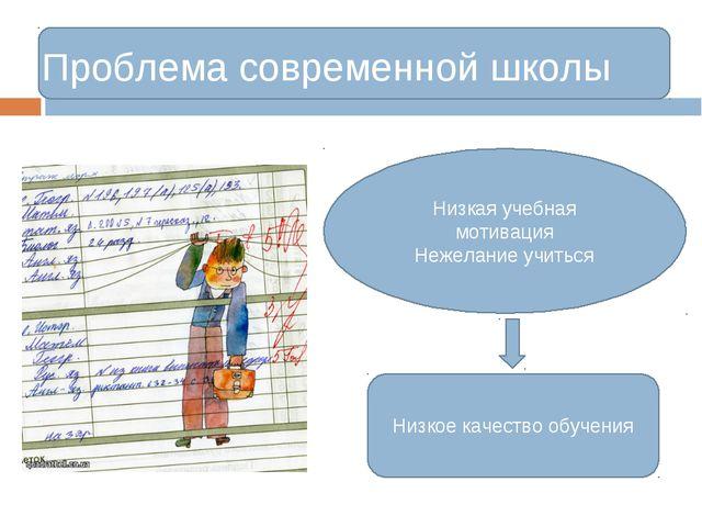 Низкая учебная мотивация Нежелание учиться Проблема современной школы Низкое...