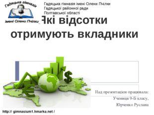 Над презентацією працювала: Учениця 9-Б класу, Юрченко Руслана Які відсотки о