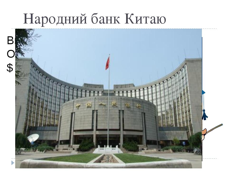 Народний банк Китаю Вклали: 1 000 $ Отримали: 1 790,85 $