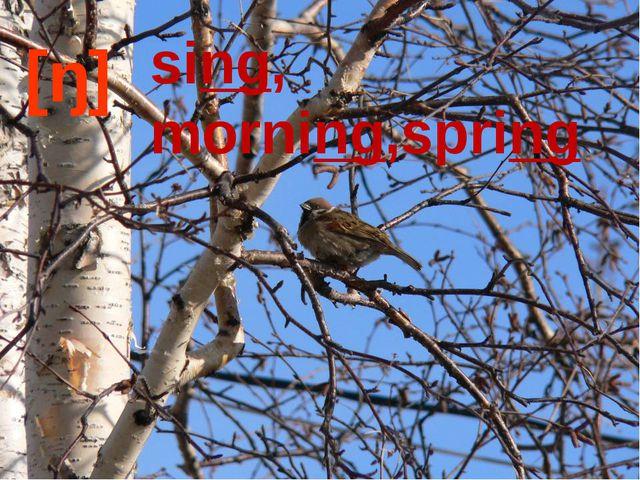 [ŋ] sing, morning,spring