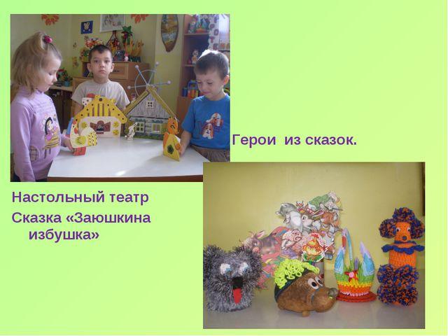 Настольный театр Сказка «Заюшкина избушка» Герои из сказок.