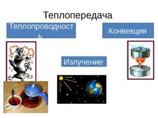 Теплопередача Теплопроводность Конвекция Излучение