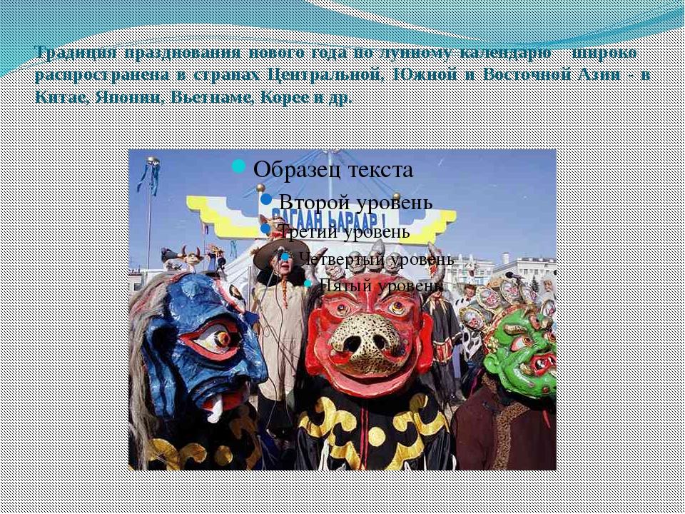 Традиция празднования нового года по лунному календарю широко распространена...