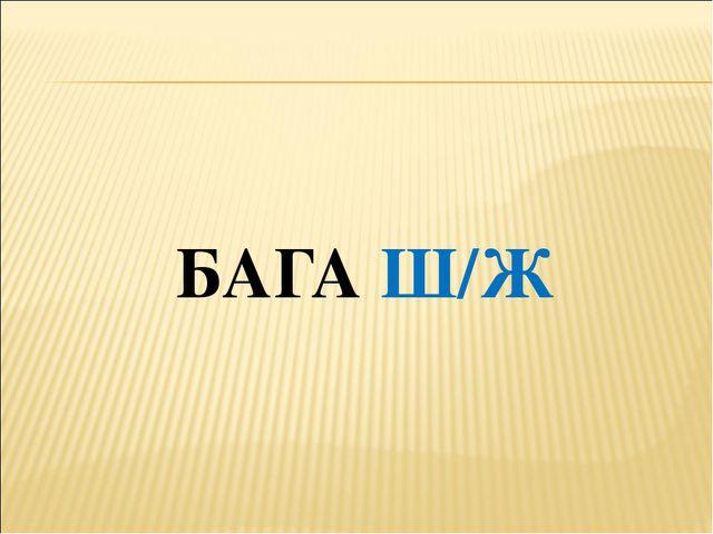 БАГА Ш/Ж