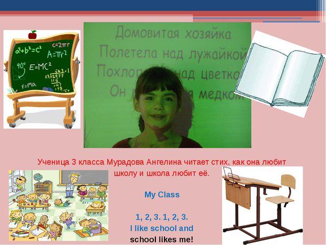 Ученица 3 класса Мурадова Ангелина читает стих, как она любит школу и школа л...