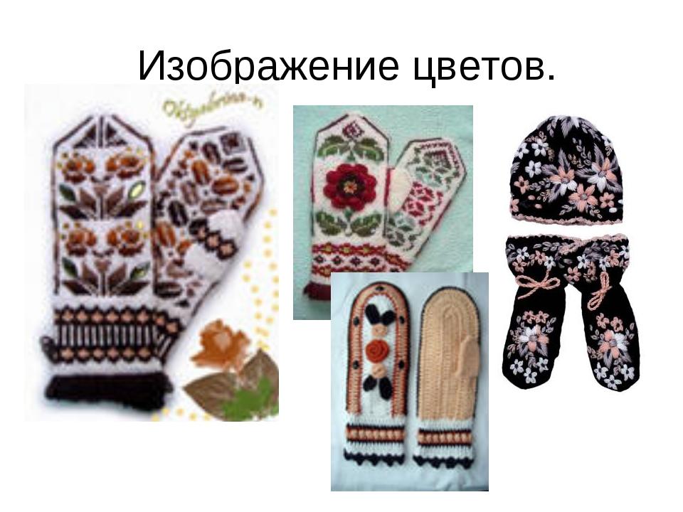 Изображение цветов.