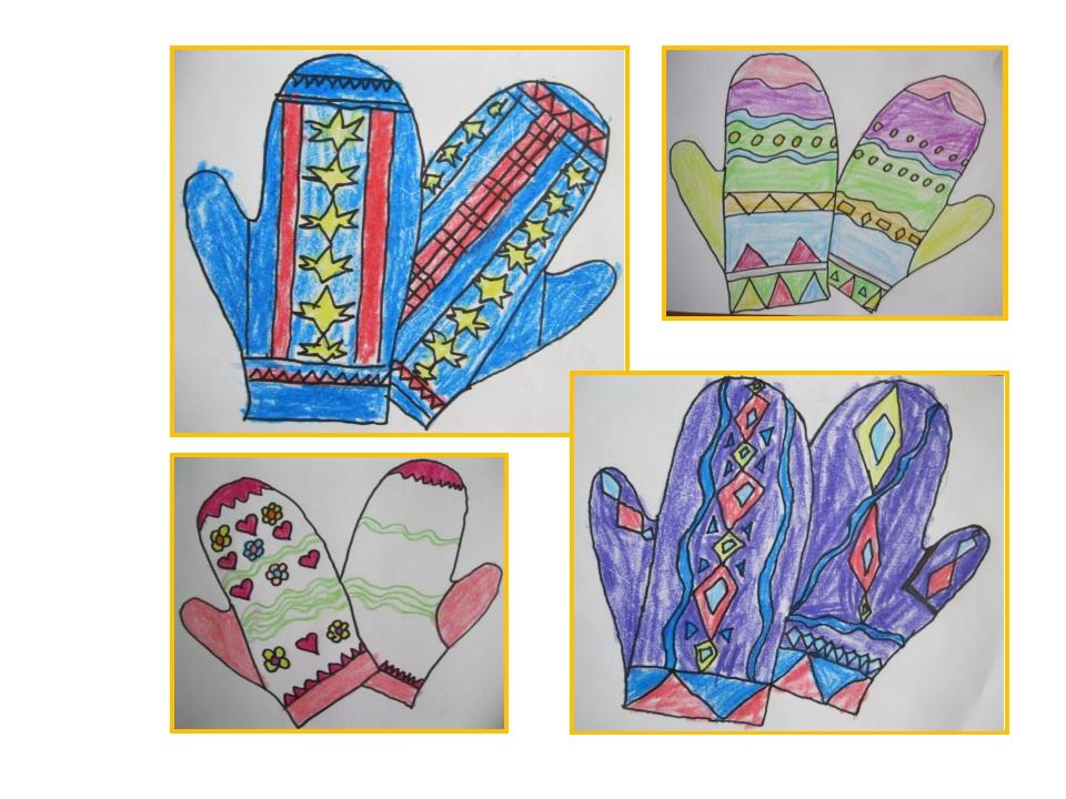 рисунок рукавички с узором фигура, длинные ноги