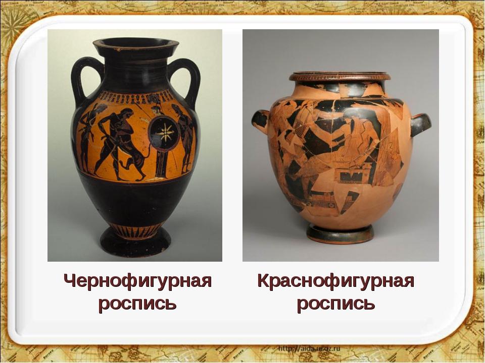 Чернофигурная роспись Краснофигурная роспись