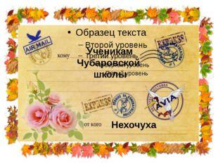 Ученикам Чубаровской школы Нехочуха