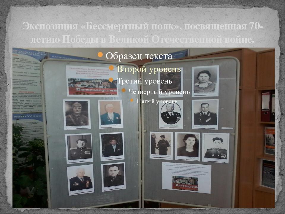 Экспозиция «Бессмертный полк», посвященная 70-летию Победы в Великой Отечеств...