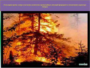 В последнее время в мире участилось количество чрезвычайных ситуаций природн