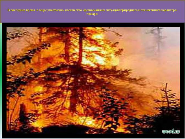 В последнее время в мире участилось количество чрезвычайных ситуаций природн...