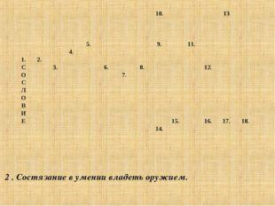 2 . Состязание в умении владеть оружием. 10.13