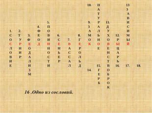 16 .Одно из сословий. 10.Н13 АЗ ТА