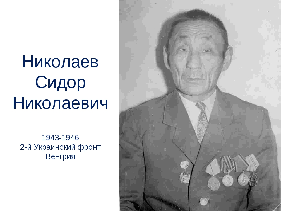 Николаев Сидор Николаевич 1943-1946 2-й Украинский фронт Венгрия